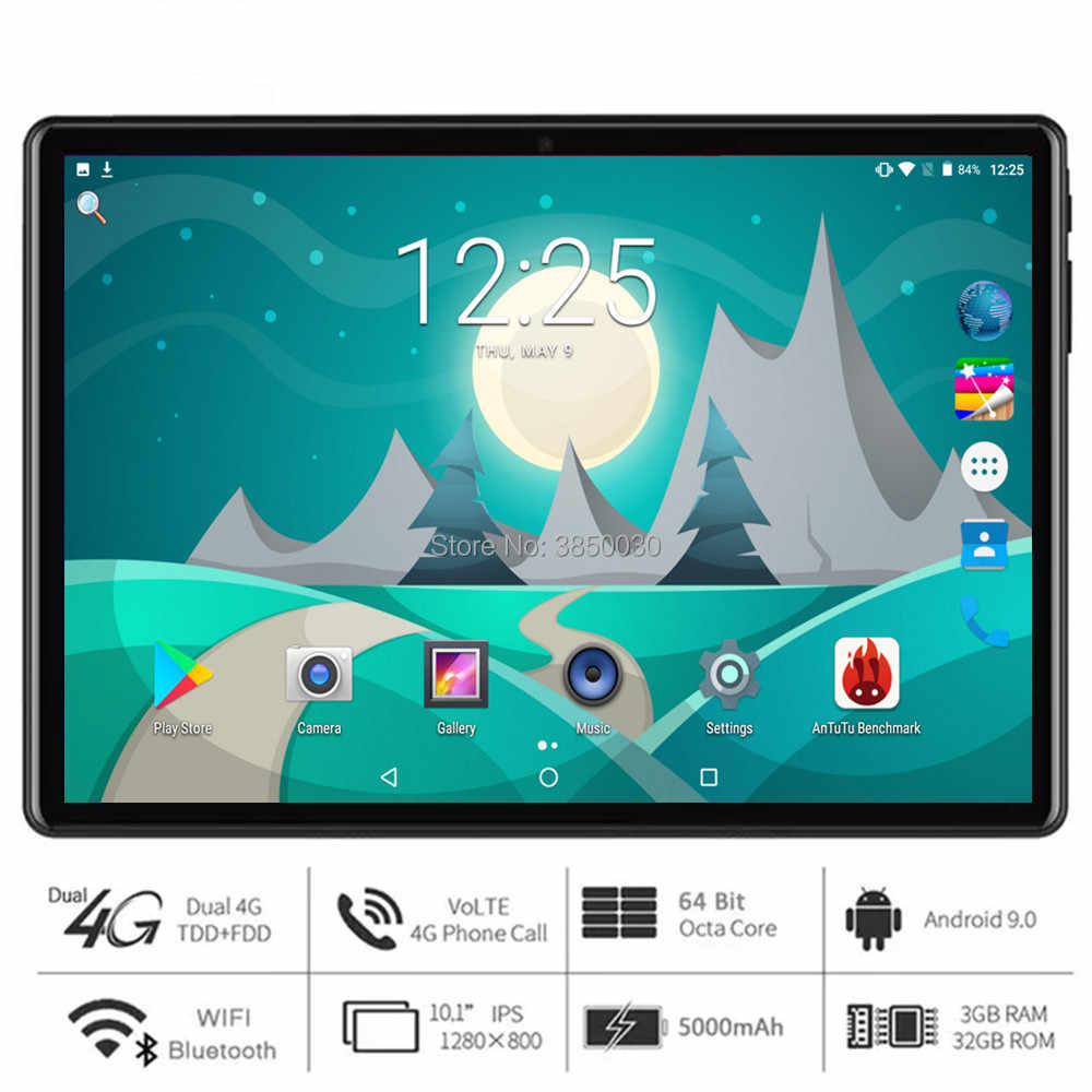 Android 9,0 tablet pc 10 zoll Google Spielen 8 core RAM 3GB + 32GB ROM 4G LTE smartphone android 9 gps WIFI 1280*800 ips TABLETTEN 10""