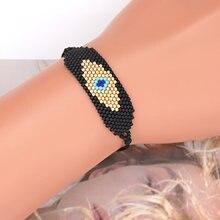 Go2boho mauvais oeil Bracelet pour hommes bijoux à la mode japonais perle métier à tisser bijoux Miyuki perlé Pulsera tissé amitié Bracelets