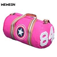 Captain America Women Sports Gym Bag Canvas Yoga Handbag Fitness Men Large Outdoor Travel Duffle bag Single Shoulder Luggage Bag
