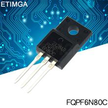 10 sztuk partia FQPF6N80C TO-220 6N80C 6N80 TO220 FQPF6N80 TO-220F nowy MOS FET tranzystor tanie tanio CN (pochodzenie) Tranzystor polowy Przez otwór