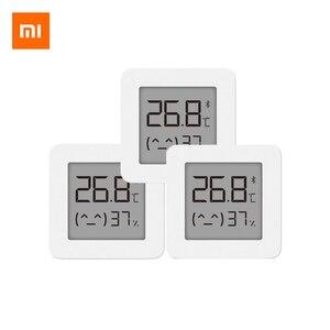 Image 2 - החדש XIAOMI Mijia Bluetooth מדחום 2 אלחוטי Bluetooth חכם חשמלי דיגיטלי מדדי לחות מדחום לעבוד עם Mijia APP