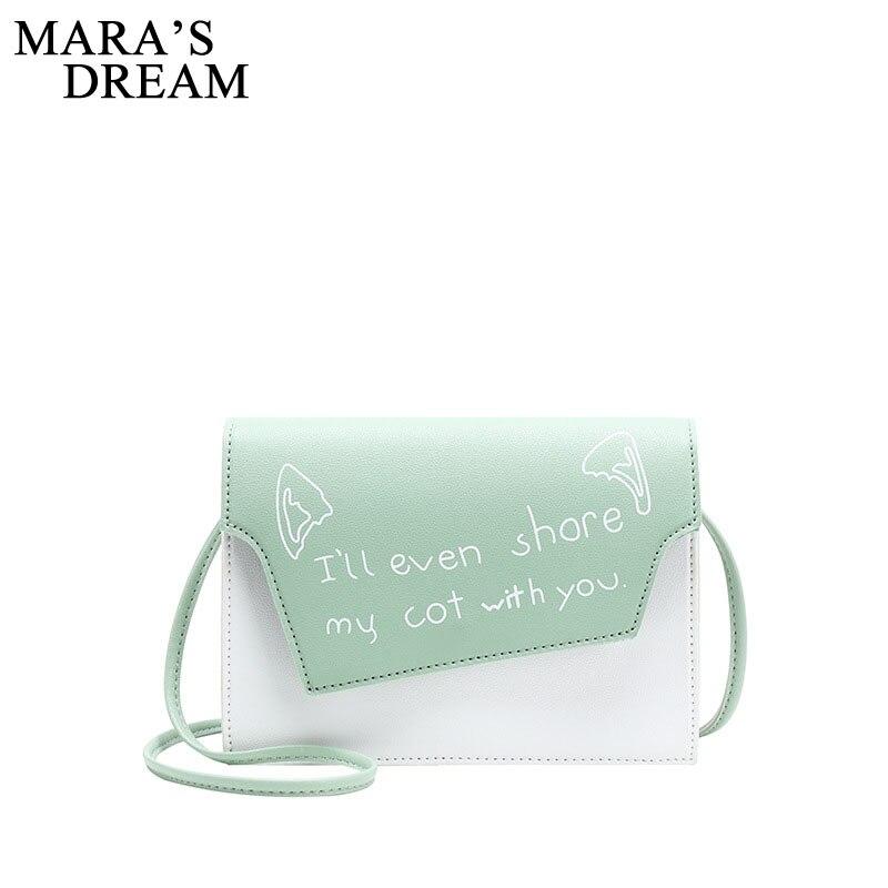 Mara's Dream 2019 New Women's Letter Shoulder Bag Fashion Spring And Summer Messenger Bag Stitching Shoulder Mobile Phone Bag