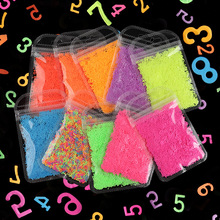 New In 2020 Number 0-9 Handicraft Sequins Red Pink Blue Fluorescent Color DIY Nail Decals Nail Art Decoration Creative Design