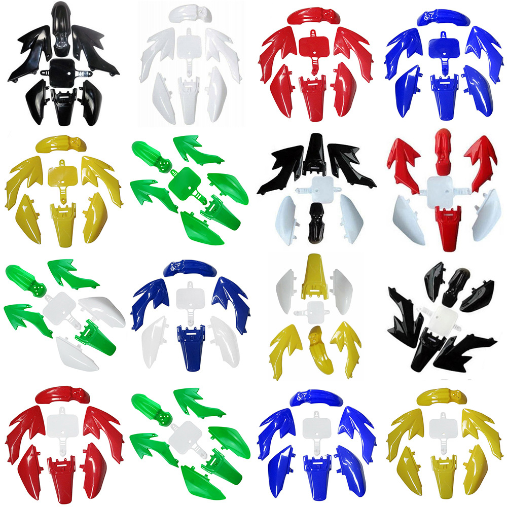 Полный пластиковый комплект обтекателей, Пластиковые крылья для HONDA XR50 CRF50 50/70/90/110/125CC, для грязевого велосипеда, пластиковых мотоциклов