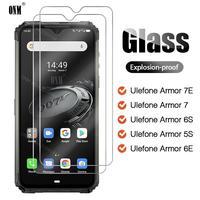Uds vidrio templado para Ulefone armadura 7E S 6S de 7 6E 5S X5 Protector de pantalla para Ulefone armadura 7E S 6S de 7 6E 5S X5 protectora película de vidrio