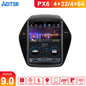 DSP Vertical screen Tesla Style Android 9.0 Car multimedia GPS Player For Hyundai IX35 2009-2016 radio tape recorder head unit