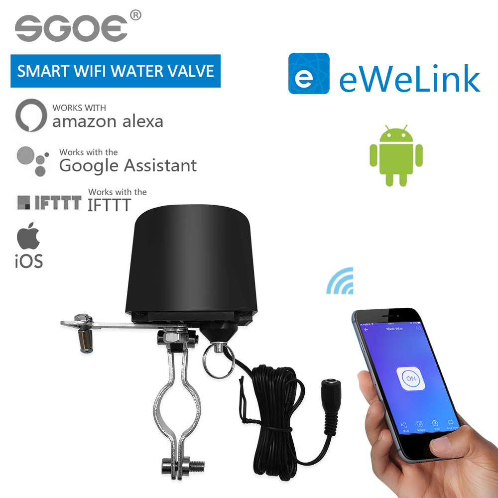EWelink Smart WIFI Switch For GW-RF Water Valve Home Automation System Gas Water Control Valve Work With Alexa And Google Home