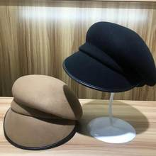 202009-YY new winter wool solid fold leisure lady cappello ottagonale uomo donna visiera cap