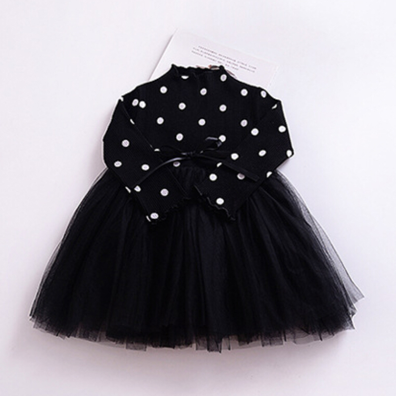 Hb47efbcb8f5744d09a263462dea6a923U Spring Autumn Long Sleeves Children Girl Clothes Casual School Dress for Girls mini Tutu Dress Kids Girl Party Wear Clothing