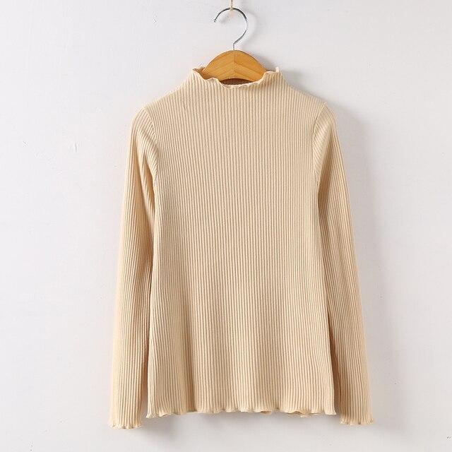 2019 Long Sleeve Shirt Mesh Top Poleras De Mujer Moda Women Shirt Women Cotton T-shirt Women Tops Casual Tee T Shirt 6268 50