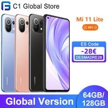Versão global xiaomi mi 11 lite nfc 64gb/128gb smartphone snapdragon 732g octa núcleo 64mp câmera traseira 33w carga rápida