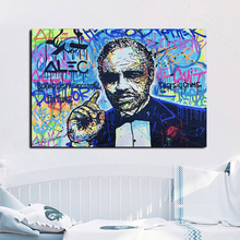 Modern Canvas Painting Alec Originality Street Graffiti Prints And Poster Wall Art HD Picture for Living Room Home Decor 2pic set paris city landmarks and cars modern painting hd prints on canvas wall art for living room canvas printings home decor