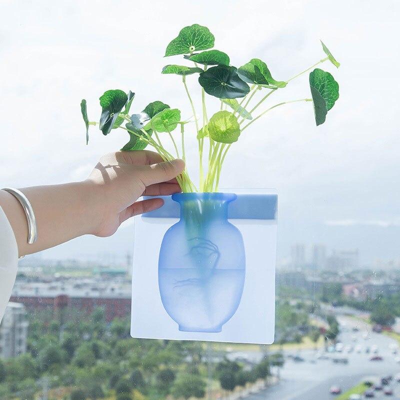 Vaso aditivo de silicone para parede e geladeira, vasos fáceis removíveis para decoração de casa faça você mesmo|Vasos| - AliExpress