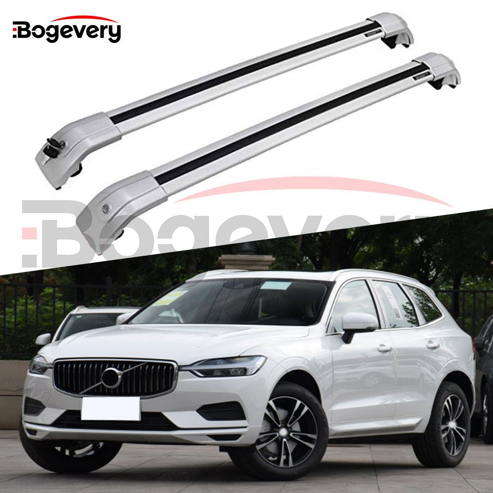 New Silver Baggage Crossbar Cross Bars Roof Racks Rail Fit For Volvo Xc60 Xc 2018 2019 2020 Roof Racks Boxes Aliexpress