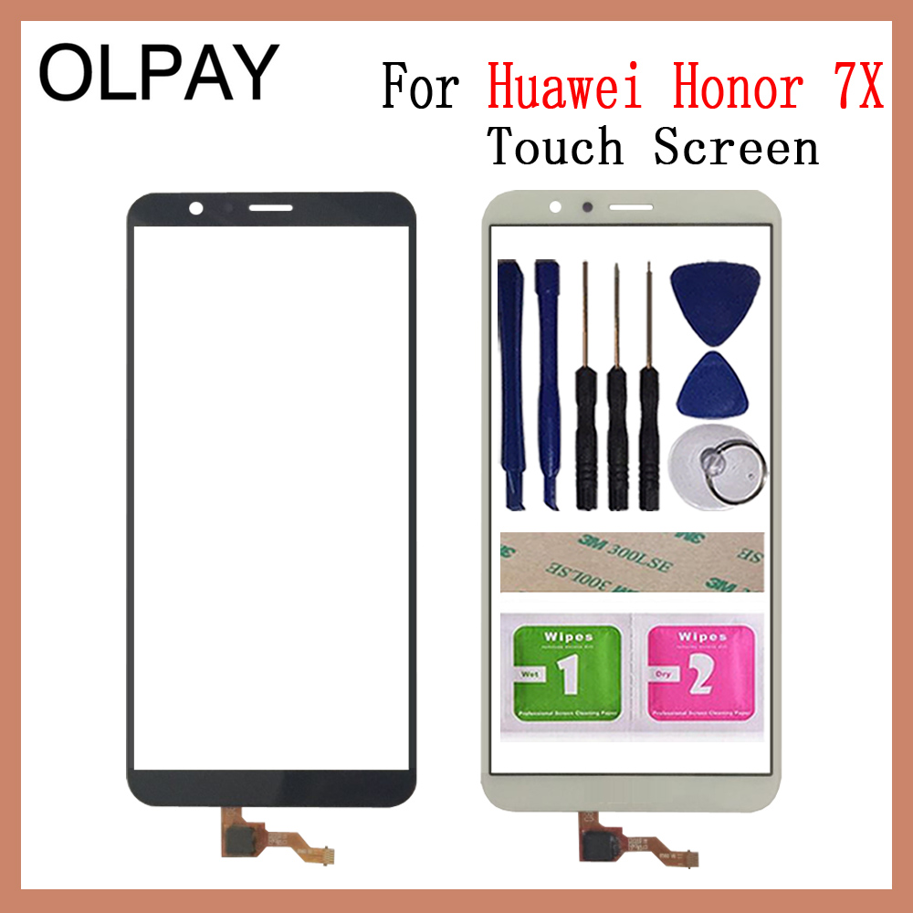 OLPAY 5.93'' Touch Screen For Huawei Honor 7X Touch Screen Glass Digitizer Panel Lens Sensor Glass Tools Free Adhesive And Wipes