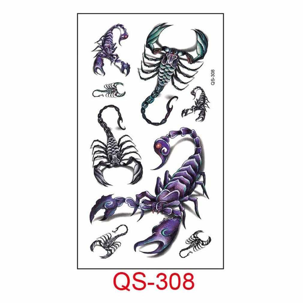 Tattoo สติกเกอร์สติกเกอร์ภาษาอังกฤษแมว Pentagram เพชร Harajuku บุคลิกภาพน่ารัก TATTOO สติกเกอร์สำหรับผู้ชายและผู้หญิง Qs-308