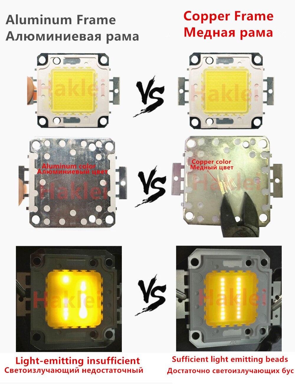 10 Вт 20 Вт 30 Вт 50 Вт 70 Вт 100 Вт светодиодный чип для интегрированного прожектора 12В/36В DIY проектор наружный прожектор супер яркий полная мощнос...