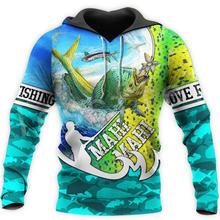 Осенний трикотажный пуловер с рисунком животных рыбалки