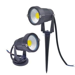 Image 4 - 3W 5 W 10W 12W מיני LED דשא גן אור 12V 85 265V חיצוני IP65 עמיד למים ספייק נוף זרקור עבור חצר בית תאורה