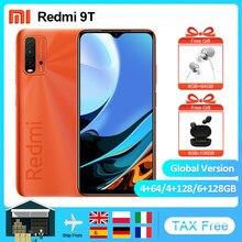 Teléfono Inteligente Xiaomi Redmi 9T versión Global, 4GB, 64GB/6GB, 128GB, Snapdragon 662, batería de 6000mAh, cámara trasera de 48MP, 6,53