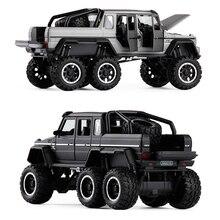 купить 1:32 AMG G63 diecast alloy car model collection metal vehicle artwork traffic children kids fans sound and light toys decoration дешево