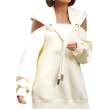 Autumn Winter Hoodie Dresses For Women Off-Shoulder Sweater Shirts Casual Oversize Vestidos Female Hoody Tops 14