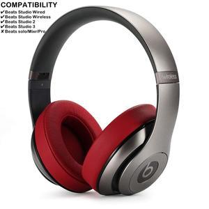 Image 4 - استبدال بطانة للأذن وسائد ل Beats ستوديو 3 سماعة رأس لاسلكية (أحمر داكن)