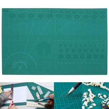 A1 PVC Self Healing Rotary Cutting Mat Craft Quilting Grid Lines Printed Board Green Patchwork Tools DIY Craft Cutting Mat Board
