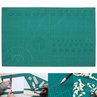 A1 pvc auto cura tapete de corte rotativo artesanato estofando grade linhas impresso placa verde retalhos ferramentas diy artesanato placa da esteira de corte|Esteiras de corte| |  -