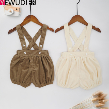Children's Clothing 2020 Fashion Spring Autumn New Baby Boys Girls Pants Cute Pumpkin Straps Shorts For Baby Overalls Spodnie