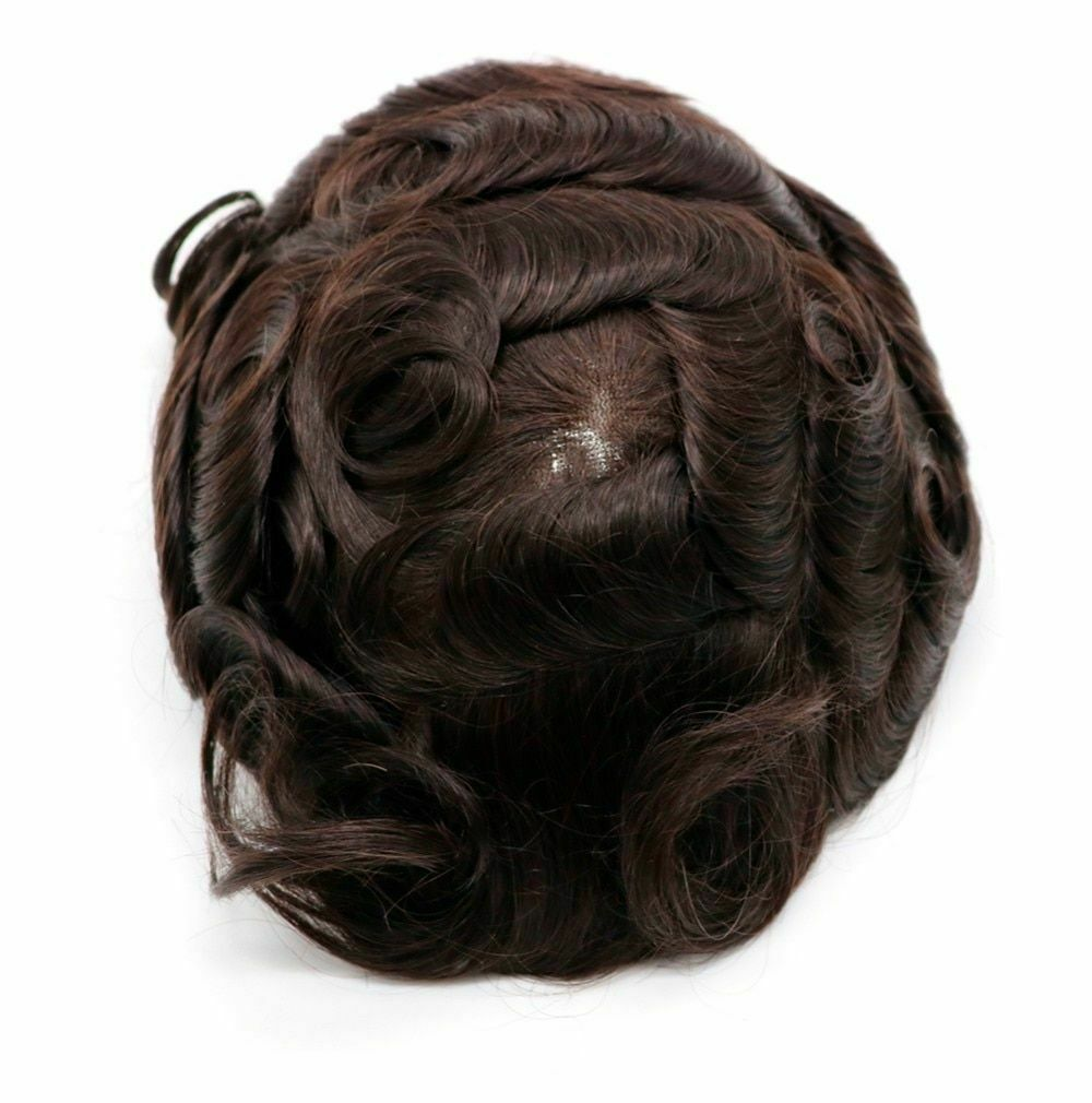 BYMC Lace With PU Men's Hair For Men Hair System Natural Hairline Trim Corta Pelo Hombre Black And Brown Colors remy hair