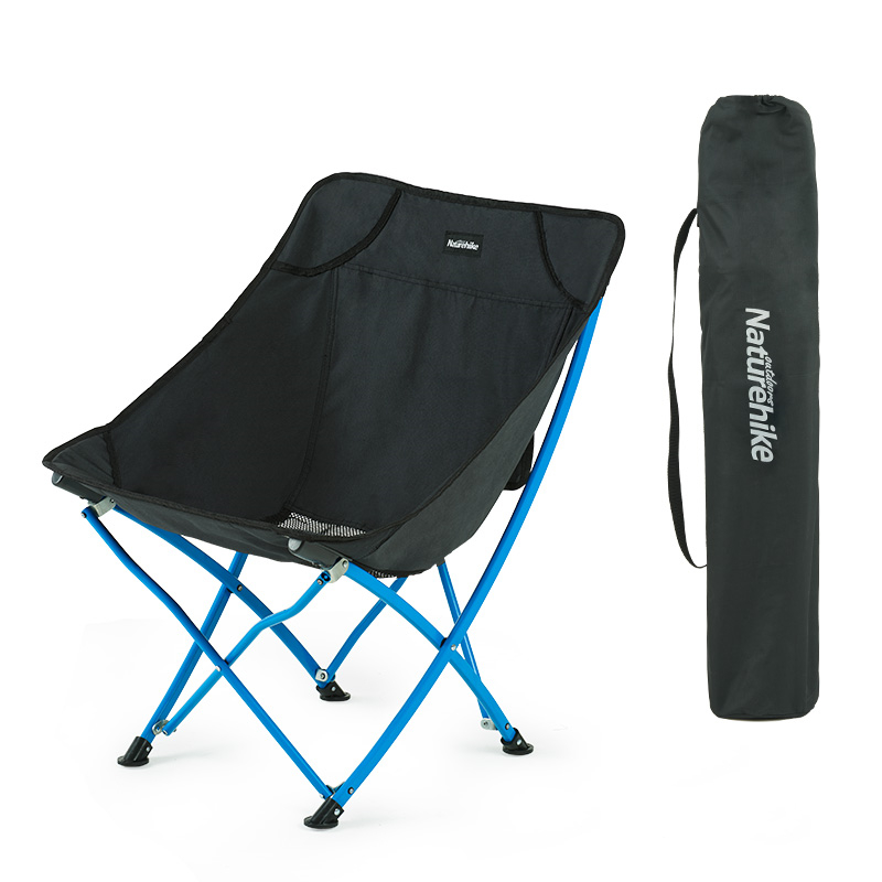 NH Mobile Customer Folding Chair Portable Backrest Fishing Chair Ma Zha Stool Beach Recliner Camping Moon Chair Arc Backrest