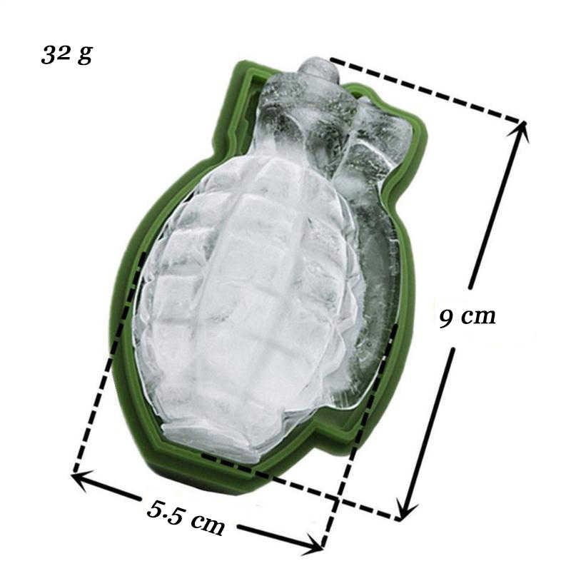 3D 型手榴弾形状アイスキューブモールドトレイアイスクリームメーカーパーティーバードリンクウイスキーワインアイスメーカーシリコーン型バーアクセサリー