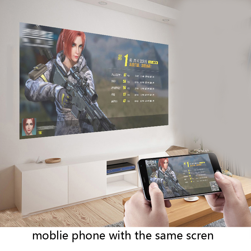806 projektor led dla 1080P z bezprzewodową funkcją synchronizacji przewodowej WiFi Android 6.0 rzutnik 3D hdmi vga AV USB Beamer
