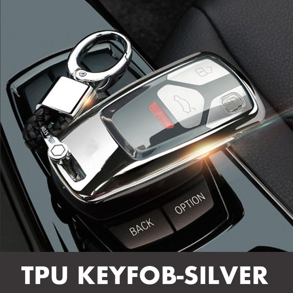 Image 4 - 2019 Car Key Fob Case Cover For AUDI A4 A4L A5 B9 Q5 Q7 S4 S5 S7 TT TTS 8S 2016 2017 B9 car styling full protect TPUKey Case for Car   -