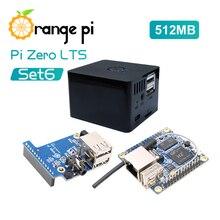 Laranja pi zero lts 512mb + placa de expansão + caixa preta, mini conjunto de placa única