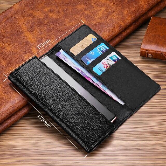 Pochette en cuir véritable pour Samsung Galaxy S20 Plus sac étui universel sac à main pour Samsung S20 S10 Plus étui portefeuille poche