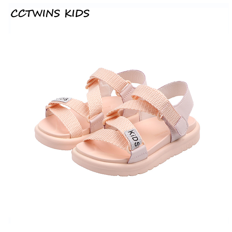 CCTWINS Kids Shoes 2020 Summer Children Fashion Beach Sandals Baby Girls Brand Casual Shoes Toddler Black Soft Flat BS489