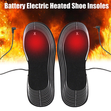 Black Battery Heated Shoe Insoles Keep Warm Unisex Warmer Snow Heater Clothing Winter Heating
