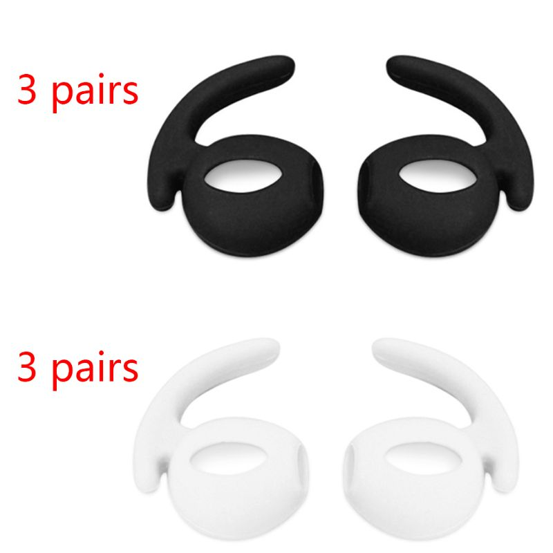 3Pair Soft Silicone Earbuds Headphone Earpods Cover Eartip Ear Hook Cap For Airpods Pro Bluetooth Earphone Accessories