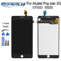 Tested Good LCD For Alcatel Pop star 3G 5022 OT5022 OT-5022 5022D LCD Display Screen With Touch Screen Assembly