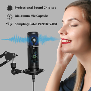 Image 4 - 100% MAONO PM422 USB Microphone Zero Latency Monitoring 192KHZ/24BIT Professional Cardioid Condenser Mic With Touch Mute Button