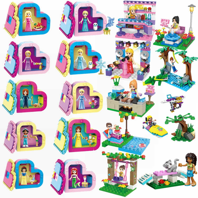 Kids Toys Model-Blocks Swing Legoing Princess-Sets Pool-Girl Compatible-Friends Toy-Bar title=