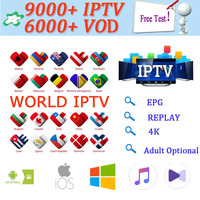 1 Year 9000+Live Europe IPTV French Spain Dutch Arab Portugal UK IPTV Subscription Free Test sports android TV box smart TV PC