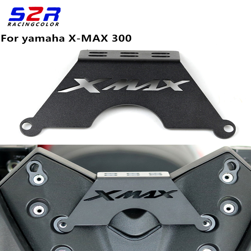 Motorcycle Front Phone Stand Holder Smartphone Phone GPS Navigaton Plate Bracket For <font><b>Yamaha</b></font> <font><b>XMAX</b></font> 125 250 X MAX300 <font><b>400</b></font> 2017 2018 image