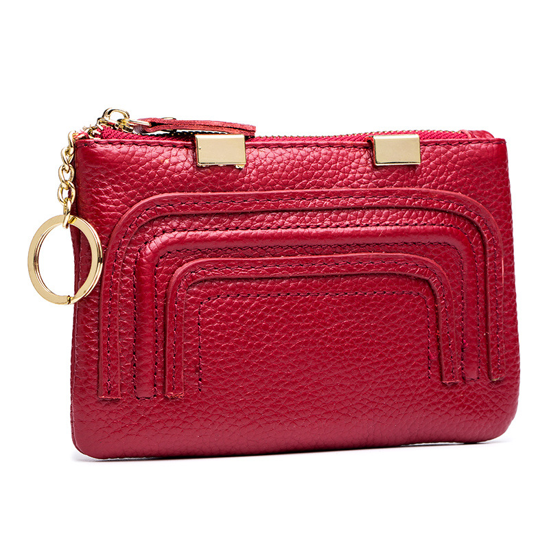New Style Women's Coin Pocket Purse Nappa Leather Korean-style Mini Genuine Leather Simple Coin Bag Wallet Wallet