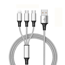 3 in 1 USB Cable 3A For Mobile Phone Micro USB Type C Charger Cable For iPhone Xiaomi Samsung Charging Cable Type C Charger Cord