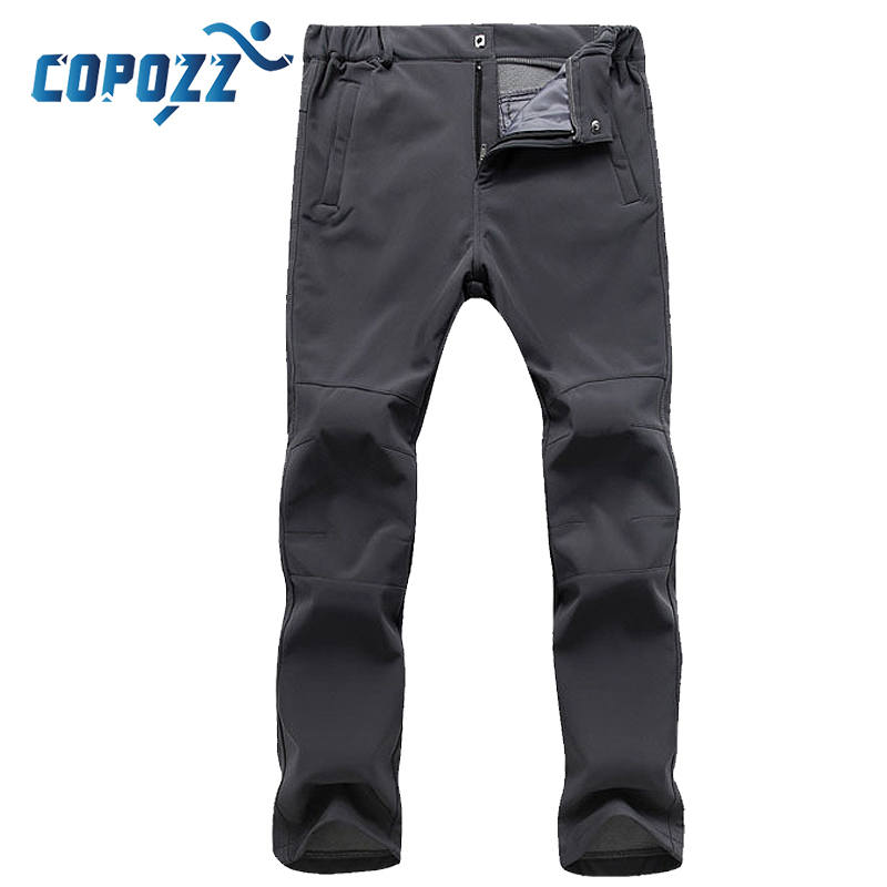 COPOZZ Men Women Autumn Winter Hiking Fishing Camping Climb Ski Trekking Trousers Plus Size Oversized Waterproof Outdoor Pants
