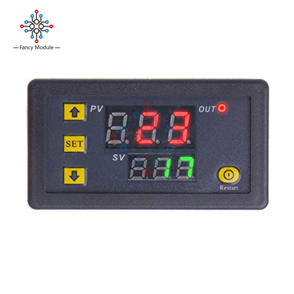 diymore AC <font><b>220V</b></font> <font><b>20A</b></font> 1500W Adjustable Timer Delay Relay Module Dual Digital LED Display Time Switch 0-999s 0-999m 0-999h for Car image