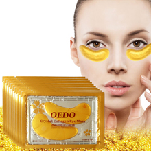 40 шт = 20 упаковок Золотая кристальная коллагеновая маска для глаз против темных кругов увлажняющая омолаживающая маска для глаз с гиалуроновой кислотой